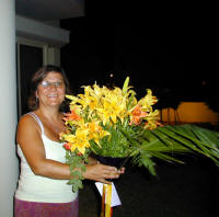 Delivering a bouquet of dazzling bright lilies in Cyprus