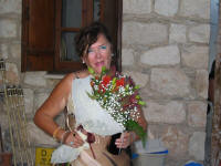 Delivering a bouquet and wine in Cyprus