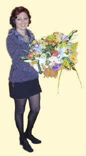Renata was very pleased with this bouquet until she discovered that it wasn't for her.