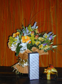 A bouquet of fresh cut flowers, gifts and chocolates delivered in Cyprus by Cyprus-flowers.com