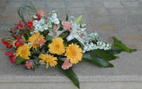 Table decortions made of flowers are delivered throughout the Larnaca area of Cyprus every day