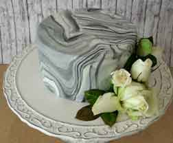Marble flower cake for your special occasion gifts in Cyprus from Cyprus flowers