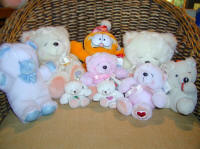 My teddies and other animals! all these bears are for delivery in Cyprus with flowers and plants