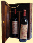 Hand carved wine gift presentation box
